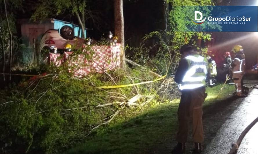 Panguipulli: Conductor falleció en accidente vehicular